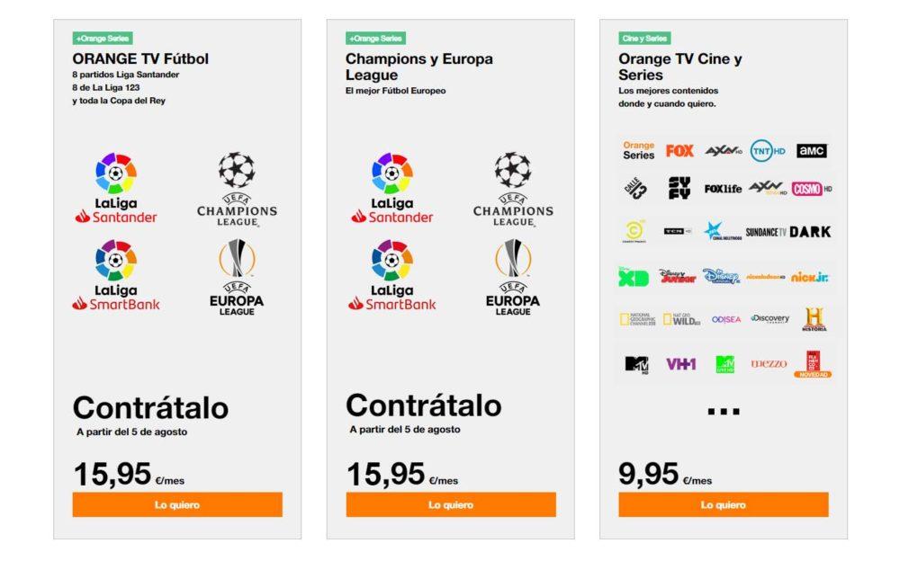Oferta fútbol Orange LaLiga Champions League