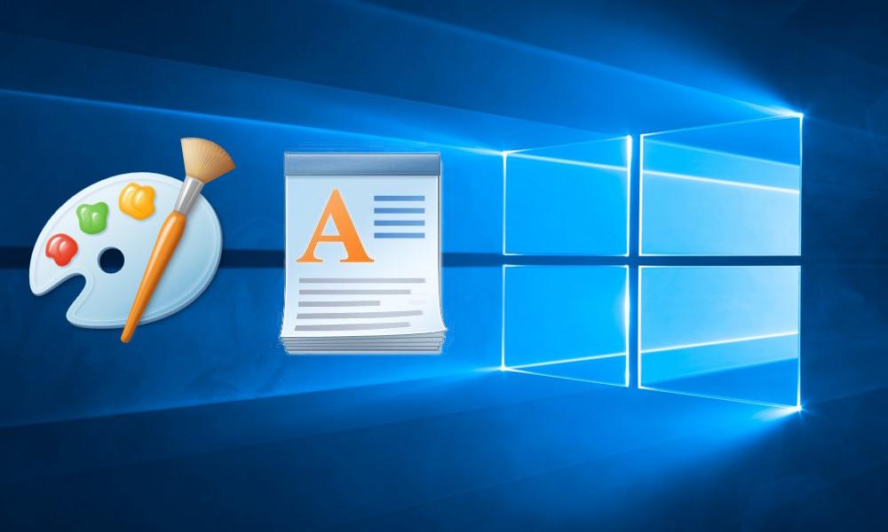 Paint y WordPad en Windows 10