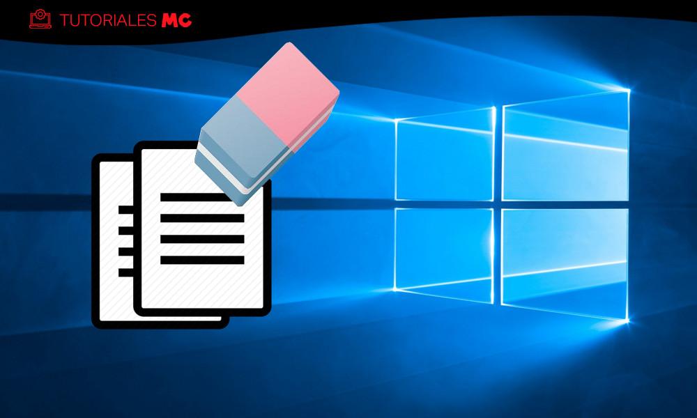 borrar ficheros de Windows 10