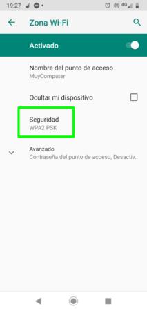 Seguridad del punto de acceso Wi-Fi en Android