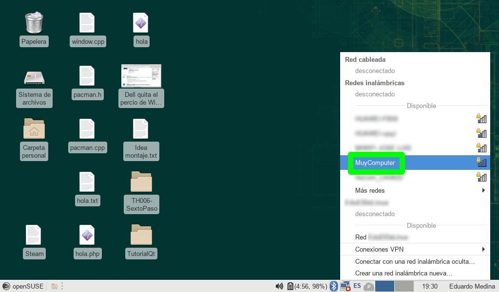 Accediendo al punto de acceso Wi-Fi de Android desde otro dispositivo con openSUSE