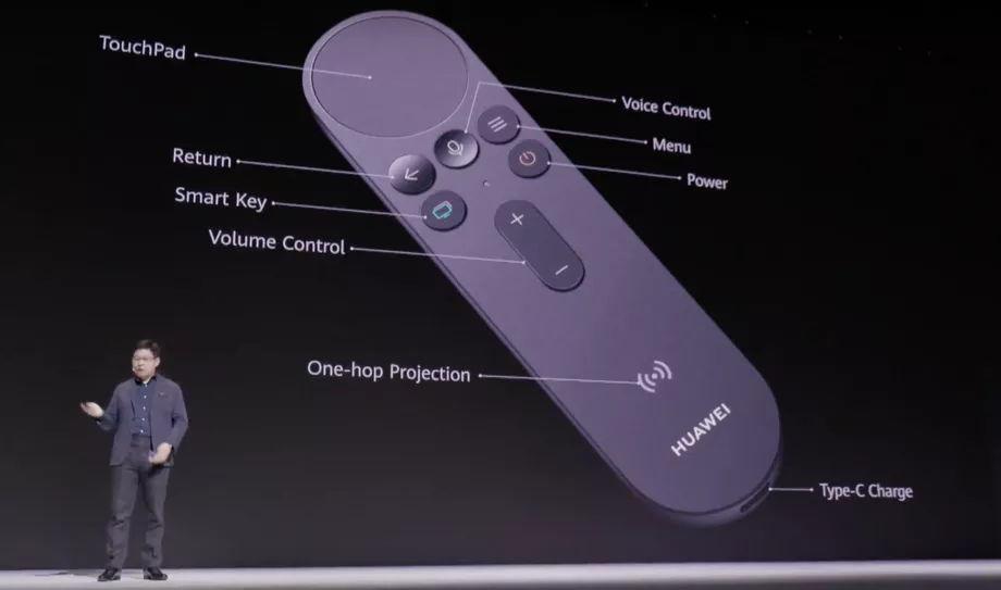 Control remoto del Huawei Vision con touchpad