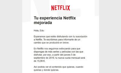 Netflix subida de precios