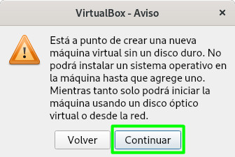 Crear una máquina virtual de Bodhi Linux en VirtualBox sin disco duro virtual