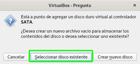 Establecer disco duro virtual descargado a Bodhi Linux en VirtualBox