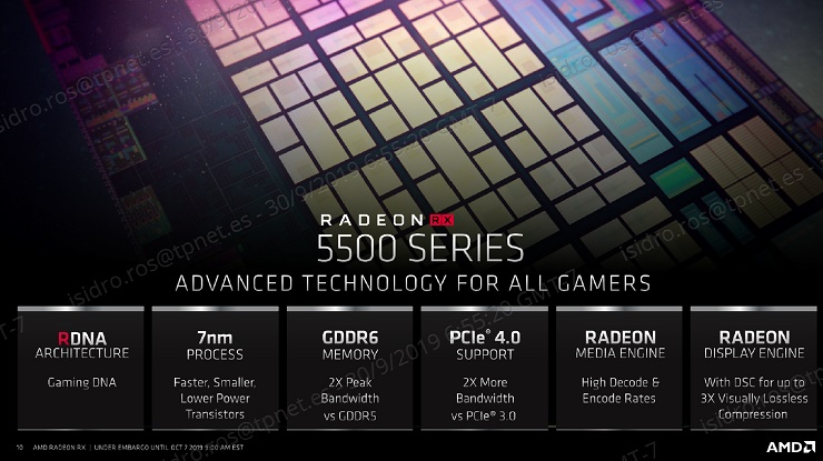 AMD presenta las Radeon RX 5500, especificaciones y precio 33