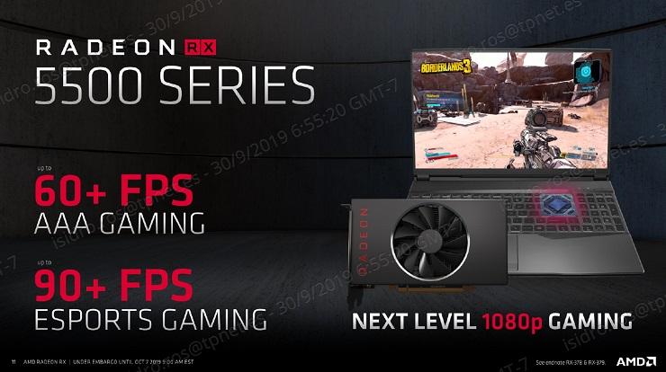 AMD presenta las Radeon RX 5500, especificaciones y precio 43