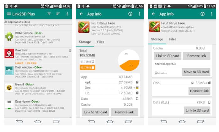 apps Android en una microSD