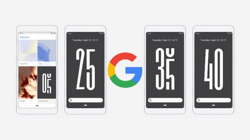 Google Unlock Clock