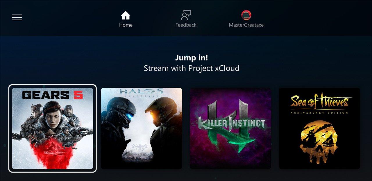 Microsoft Project xCloud Juegos
