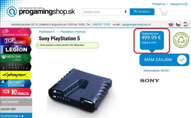 Una tienda online lista y pone fecha de lanzamiento y precio a PS5: 499,99 euros 30