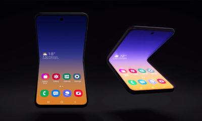 Samsung teléfono plegable vertical