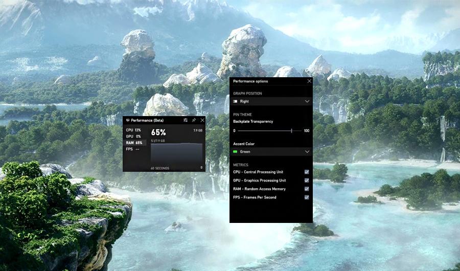 Windows 10 Game Bar añade FPS
