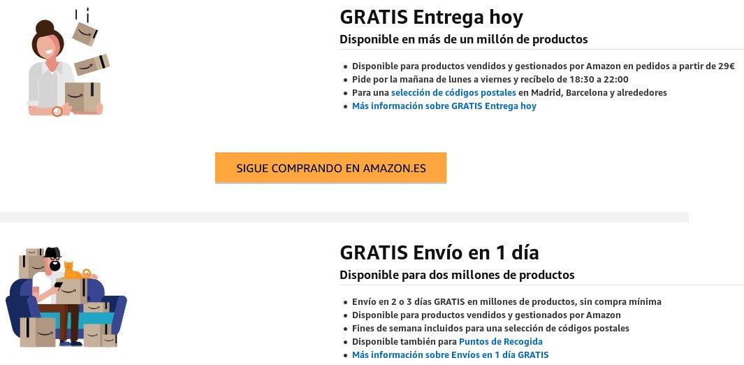envíos Amazon Prime