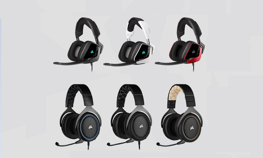 Corsair amplía su catálogo de auriculares con los nuevos HS Pro y VOID Elite 30