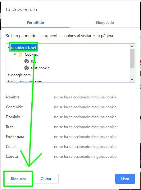 Bloqueando la cookie DoubleClick en Google Chrome