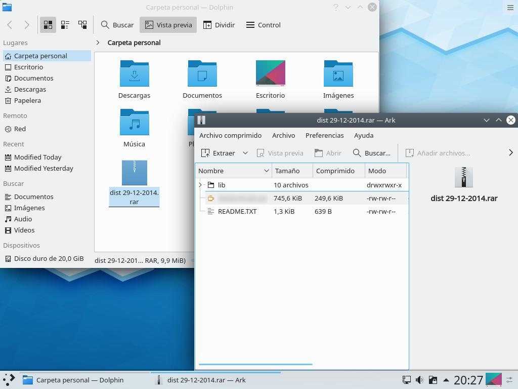 Ark de KDE Plasma 5