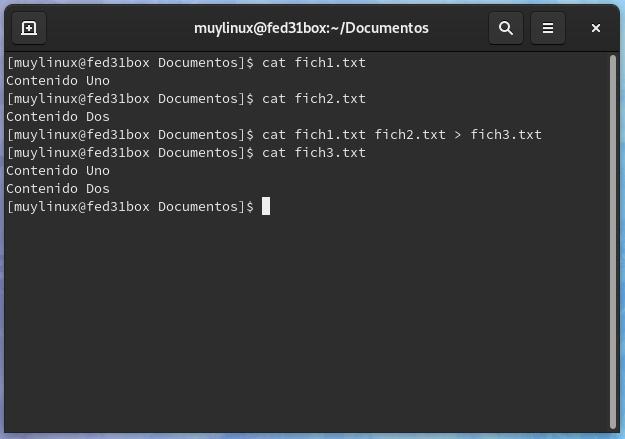 Ejemplo simple de la rapidez de la línea de comandos