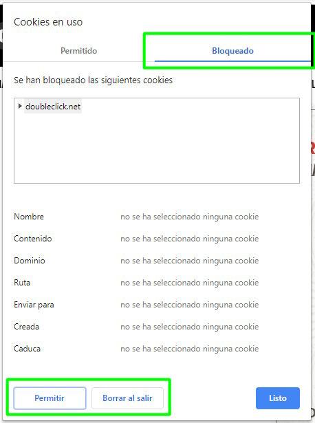 Cookie de DoubleClick bloqueada permanentemente