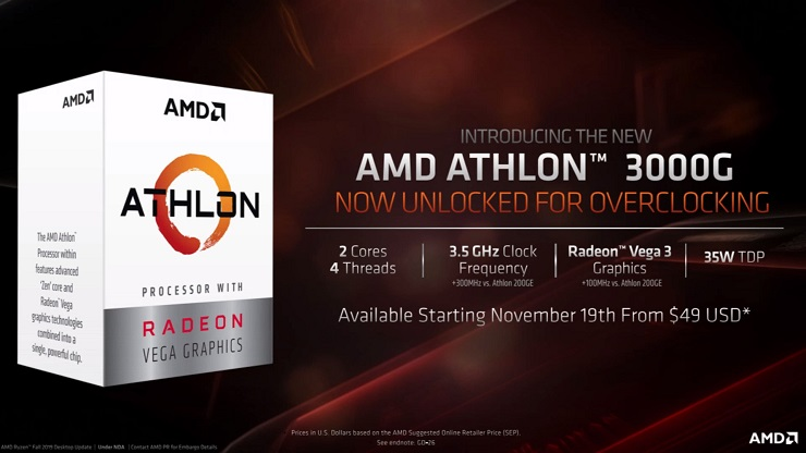 AMD presenta los Ryzen 9 3950X, Threadripper 3000 y el Athlon 3000G 50
