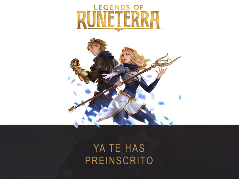 Legends of Runterra Preinscipción