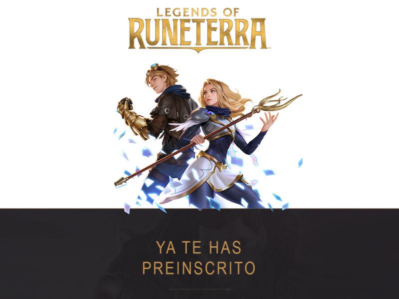 Legends of Runterra Preinscipción