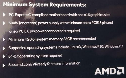 Parte trasera de la caja de la Sapphire Nitro+ Radeon RX 580 de 8GB