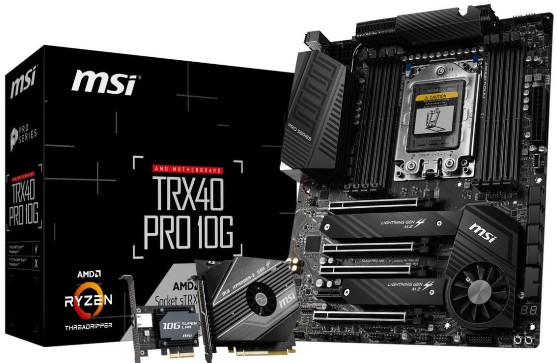 ASUS, GIGABYTE y MSI anuncian placas base TRX40 para los AMD Threadripper 3000 42