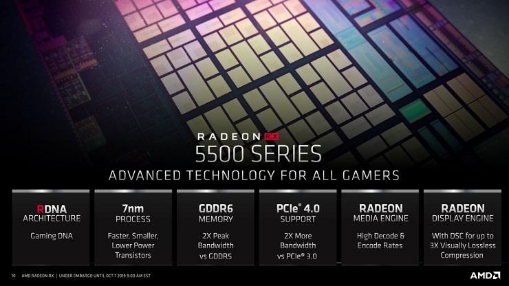 AMD presenta las Radeon RX 5500M y Radeon RX 5300M 33