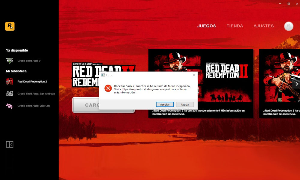 Red Dead Redemption 2 Error Rockstar Launcher
