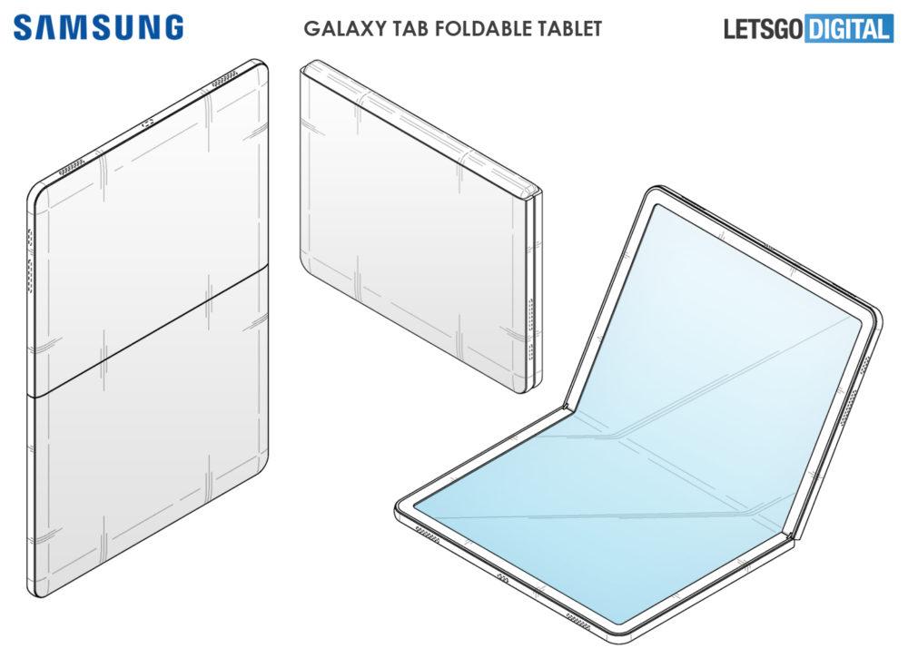 Samsung Galaxy Tab Fold Render Patente