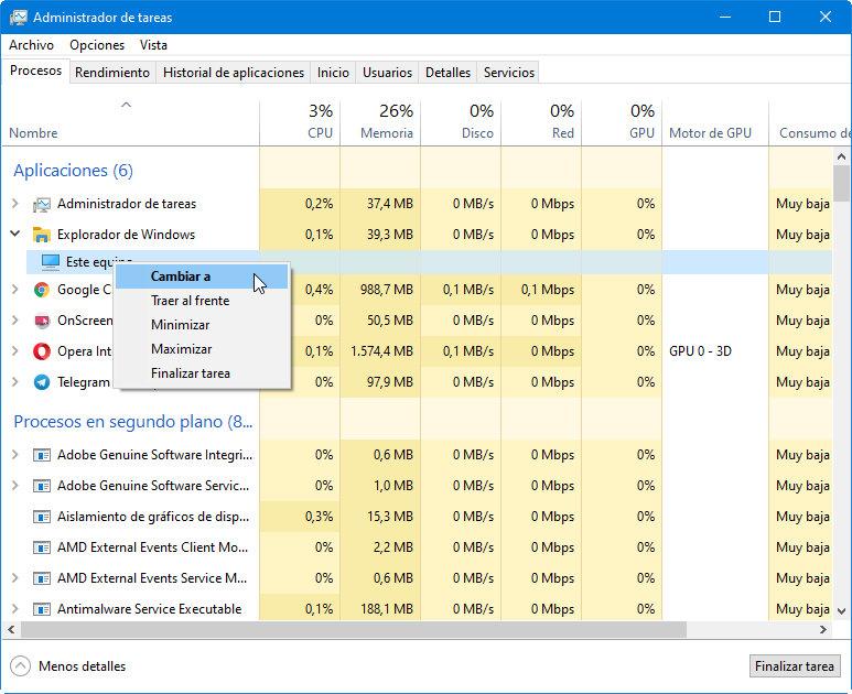 Microsoft añade funciones al Task Manager, una de las herramientas más interesantes de Windows 47