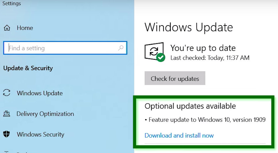 Windows 10 November 2019 Update