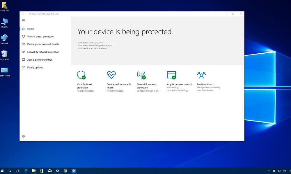 Los diez antivirus más populares para Windows 10 32