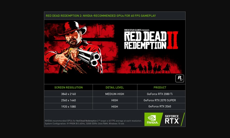 NVIDIA exagera los requisitos de Red Dead Redemption 2 y contradice a Rockstar 39
