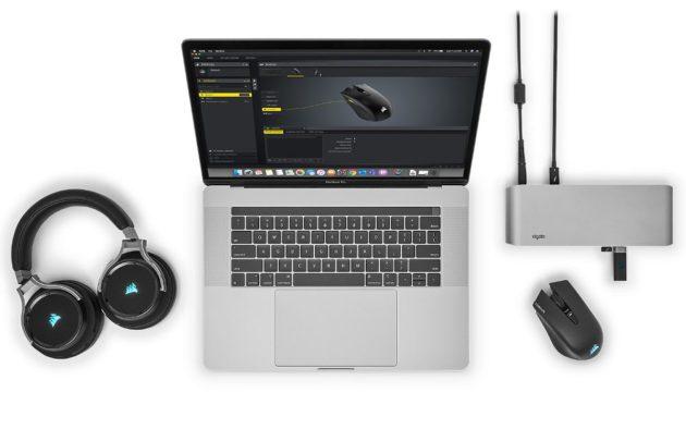 software Corsair iCUE ejecutado en un MacBook Pro