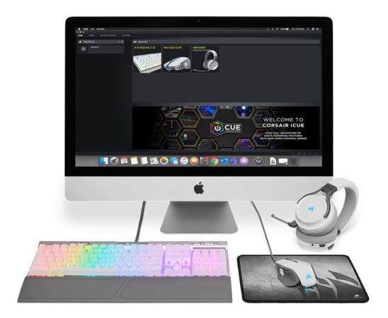 software Corsair iCUE ejecutado en un iMac