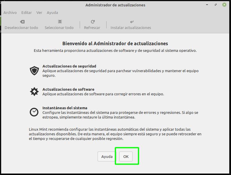 Actualizar Linux Mint tras la instalación