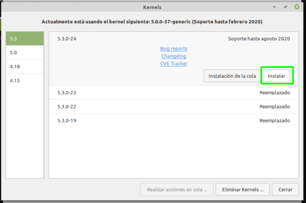 Instalando un kernel más reciente en Linux Mint