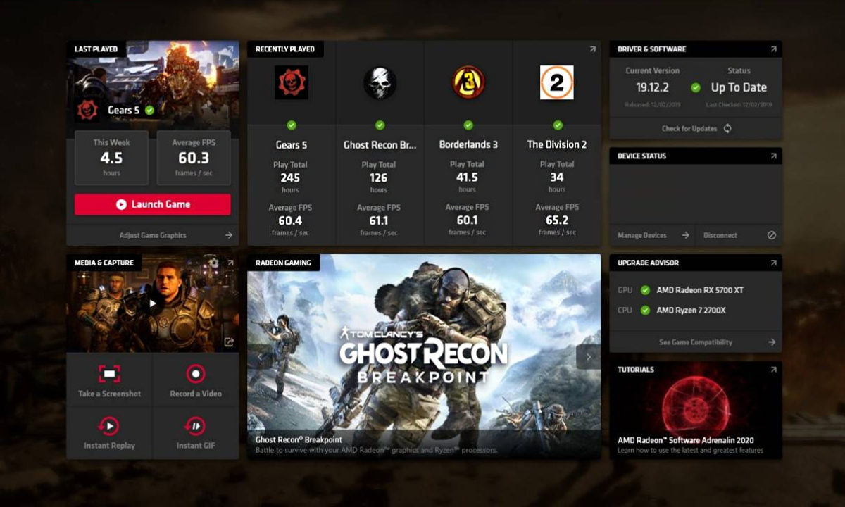 AMD Radeon Software Adrenalin 2020 Streaming