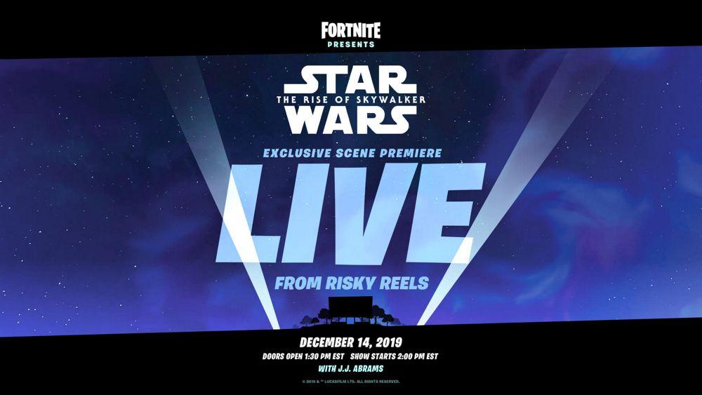 Cartel del evento de Star Wars: El ascenso de Skywalker que está preparando Epic Games a través de Fortnite