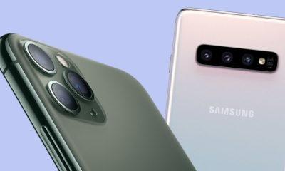 Consumidores con un iPhone y un Samsung Galaxy