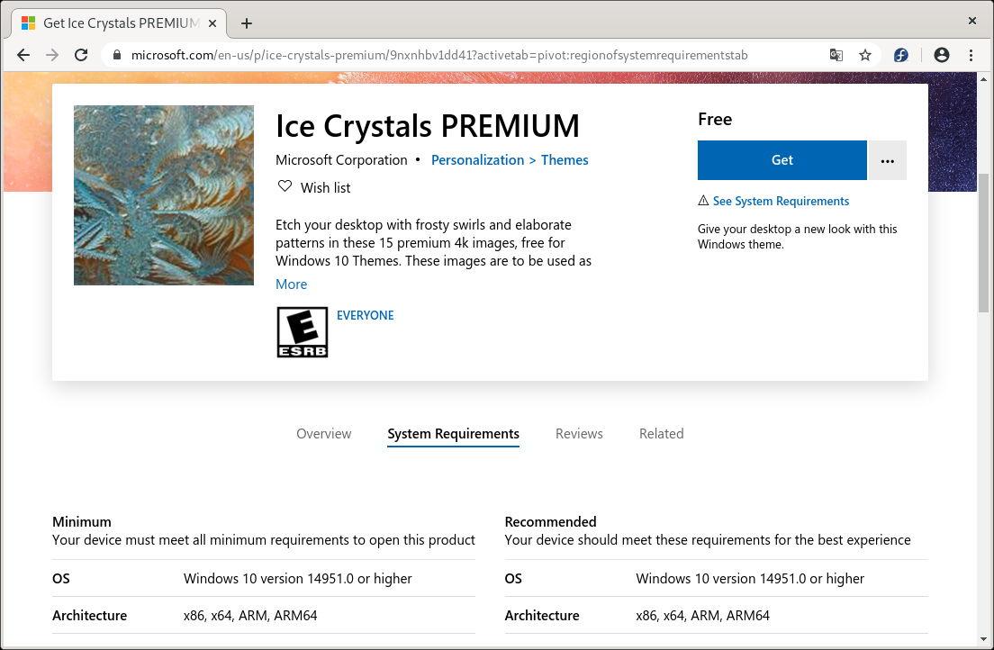 Ice Crystals PREMIUM, paquete de 15 fondos de escritorio a resolución 4K para Windows 10