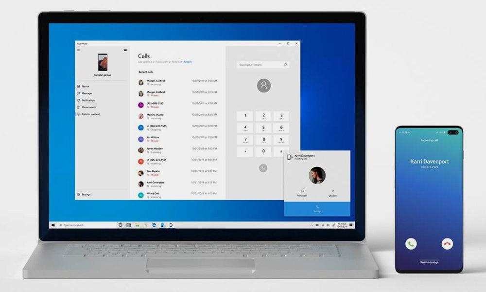 Si usas Android, ya puedes hacer llamadas telefónicas en PC con Your Phone de Windows 10 30