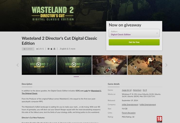 Consigue gratis Wasteland 2 y no te pierdas las ofertas de Navidad de Good Old Games 36