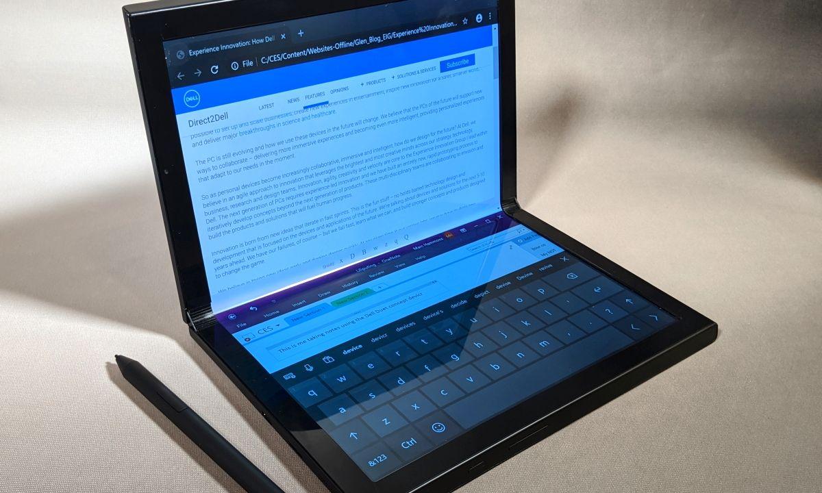 Dell muestra en el CES 2020 los prototipos de portátiles plegables: Ori Concept y el Duet Concept