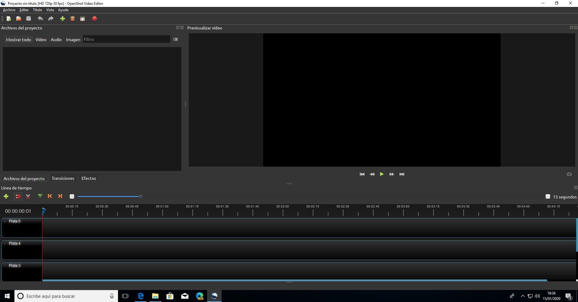 Edición de vídeo con OpenShot