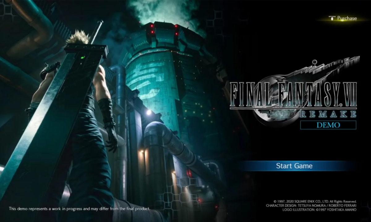 Final Fantasy VII Remake Demo PS4