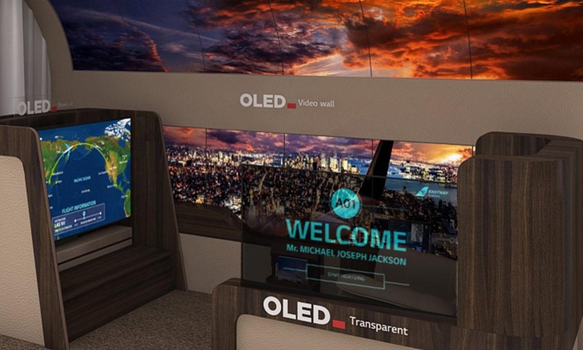 LG OLED flexible aviones