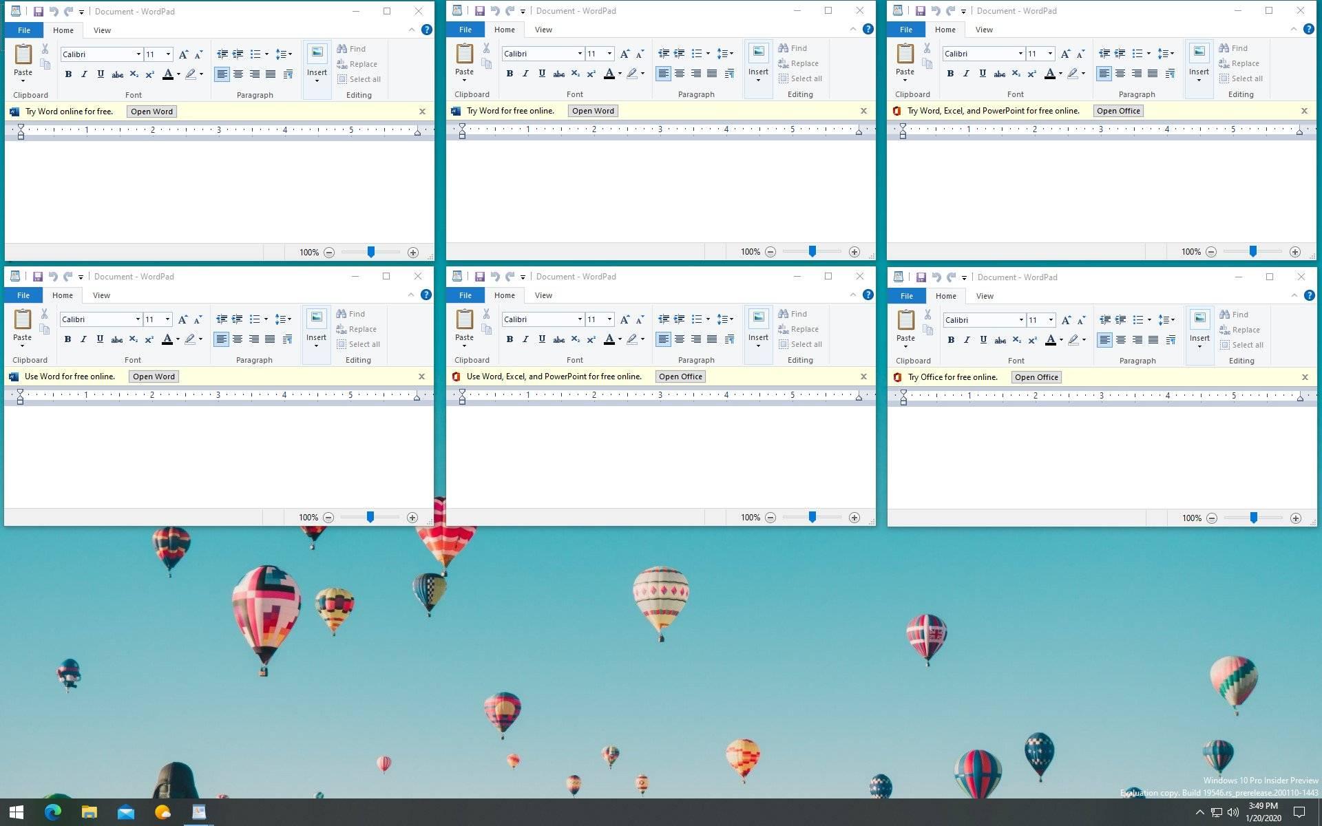 Publicidad en WordPad